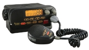 Cobra MR F55 är en fast installerad marin VHF radio med en stor tydlig LCD display
